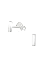 Silver Jewels Silver Bar Stud Earrings - Front cropped