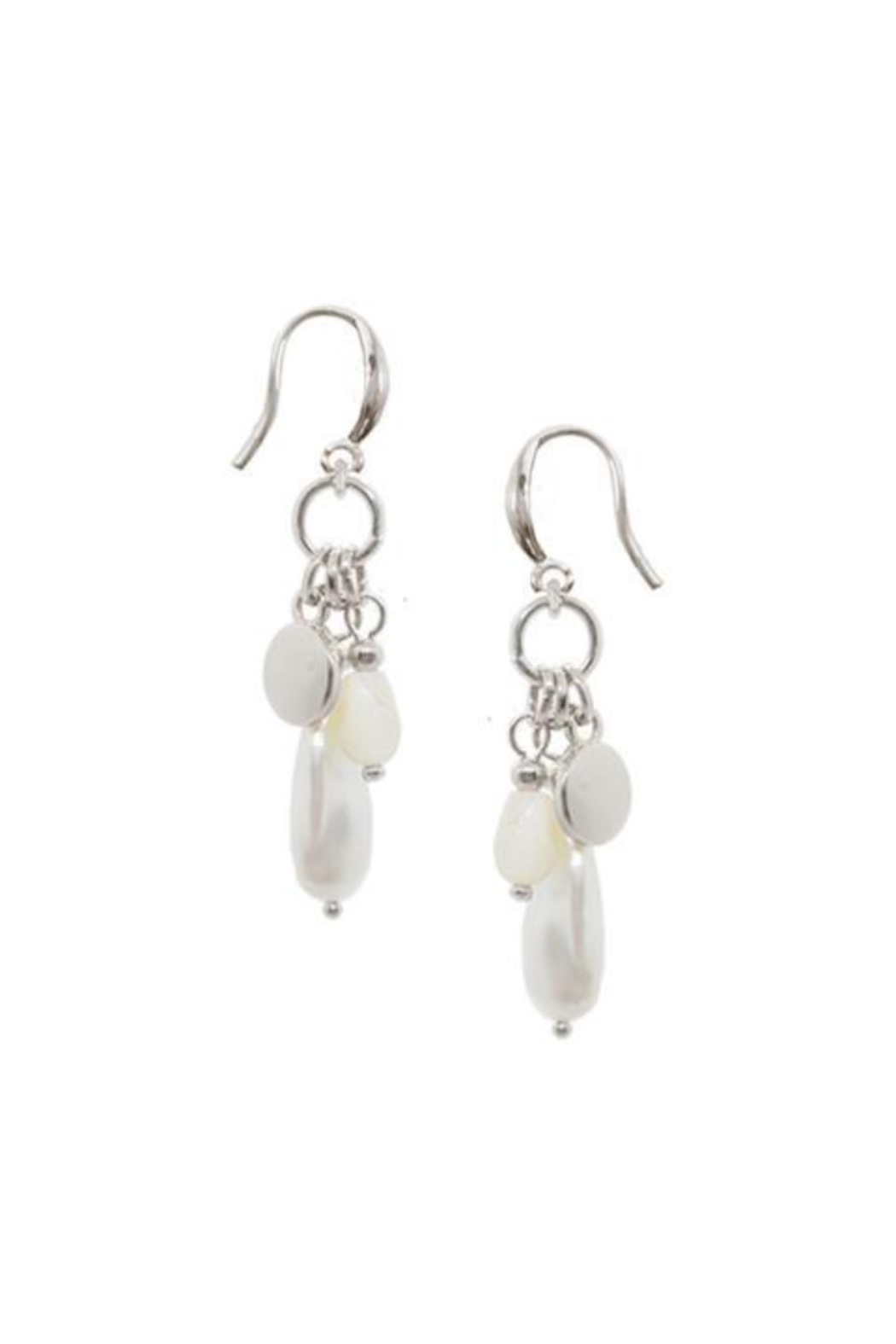 Caracol Silver Bead earrings - Front Full Image