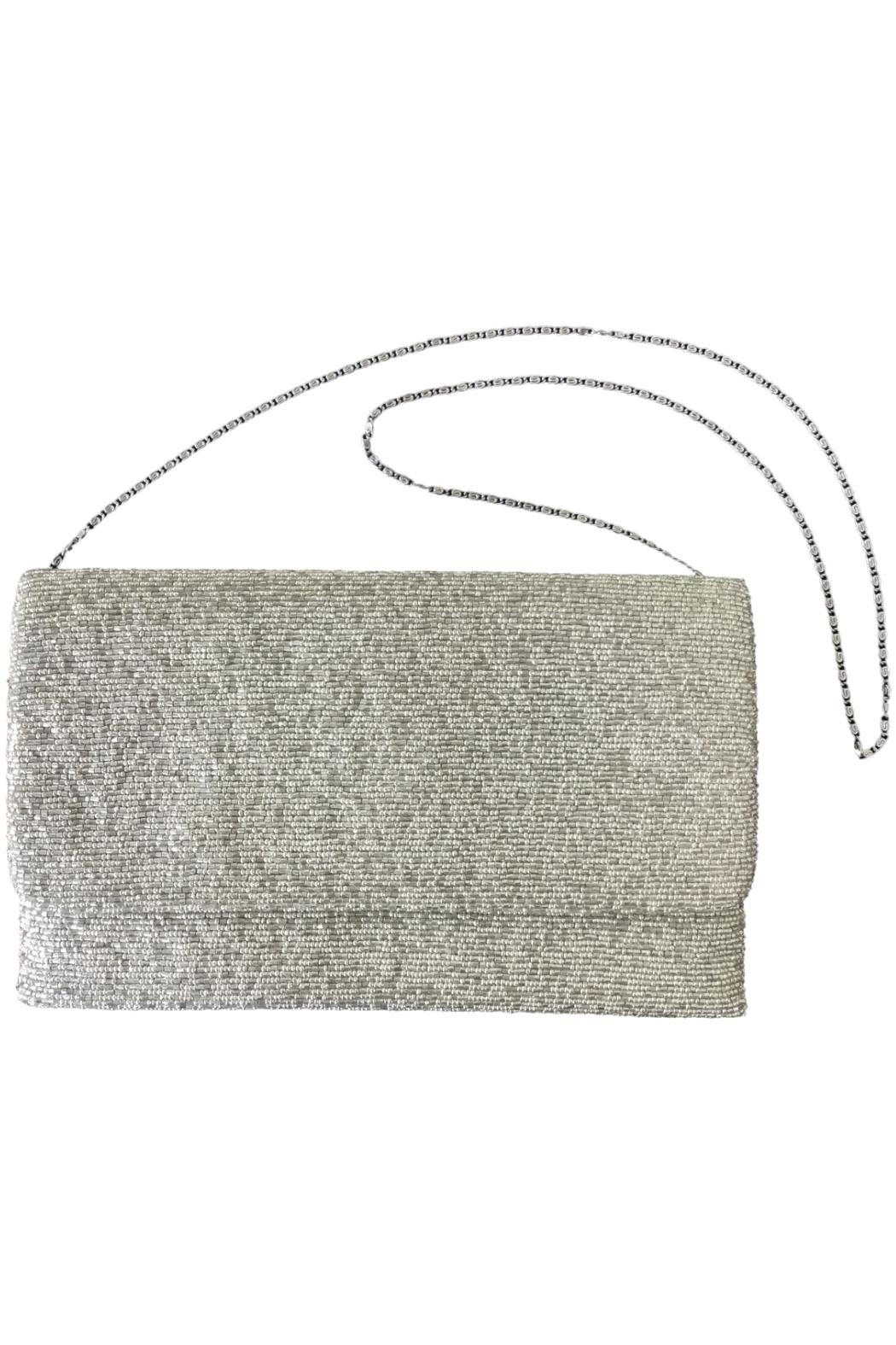 Scarborough Fair Silver Beaded Bag - Side Cropped Image