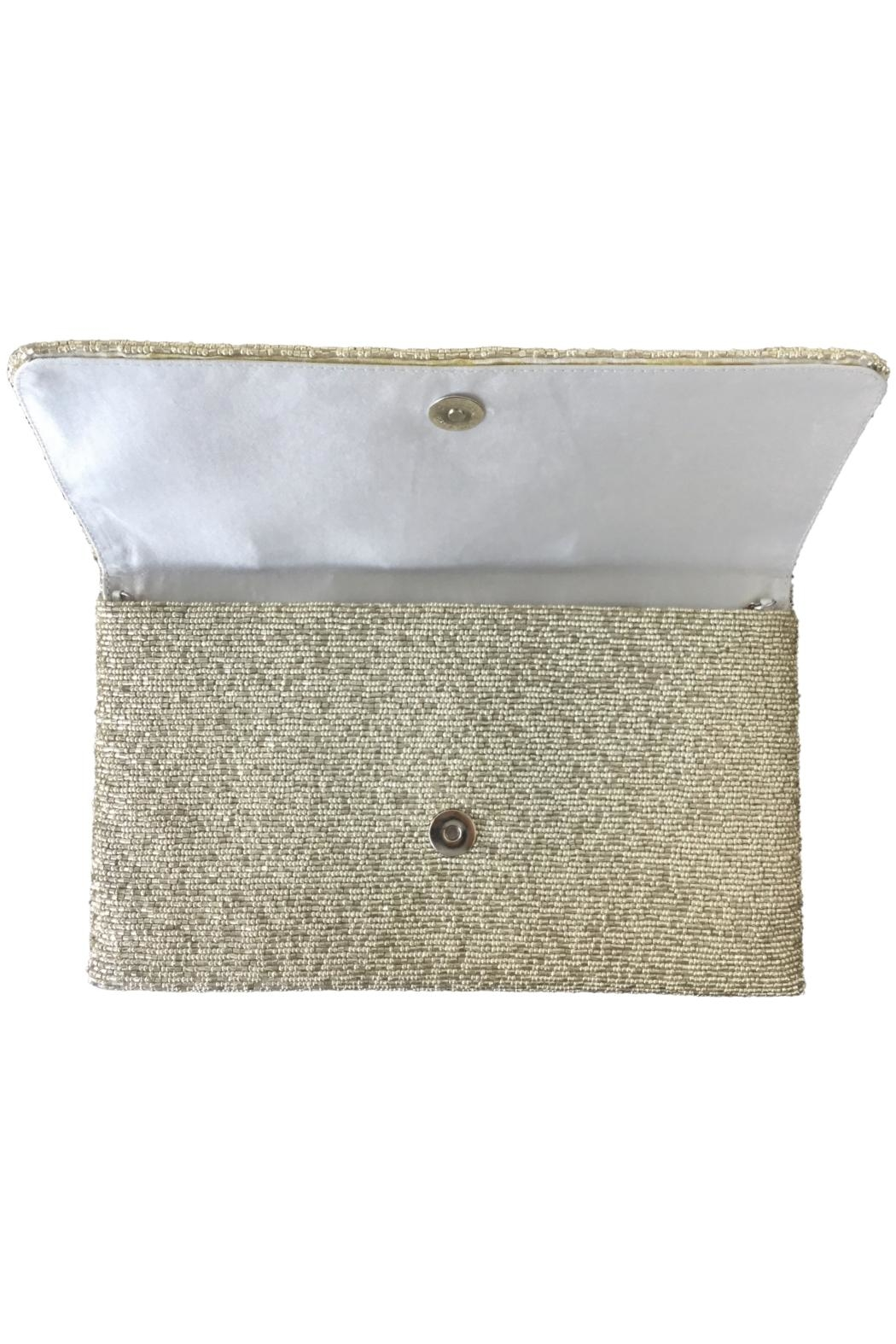 Scarborough Fair Silver Beaded Bag - Front Full Image