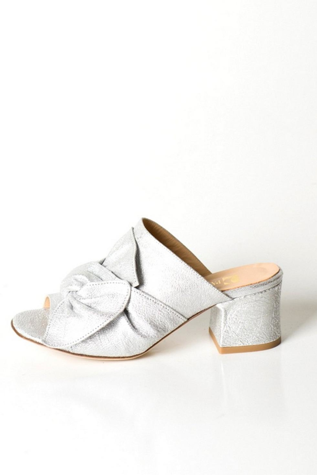 Pascucci Silver Bow Mule - Front Cropped Image
