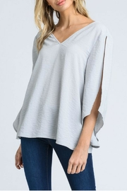 Doe & Rae Silver Bow Top - Product Mini Image