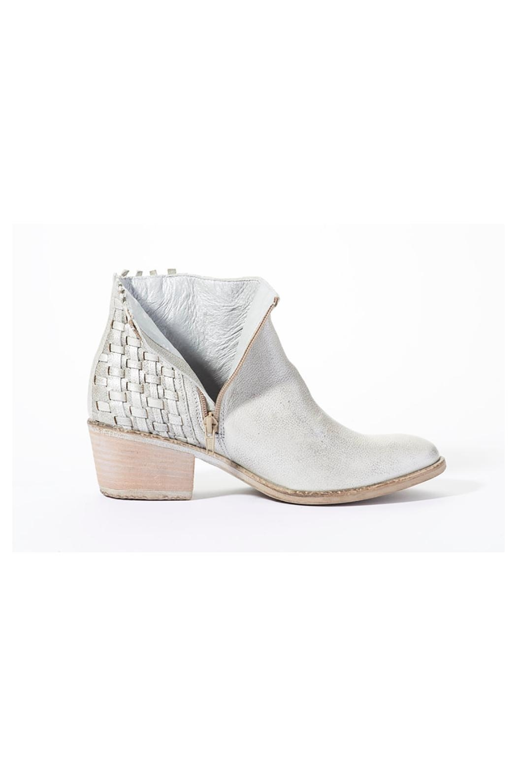 Rebel With Cause Silver Braided Bootie - Side Cropped Image