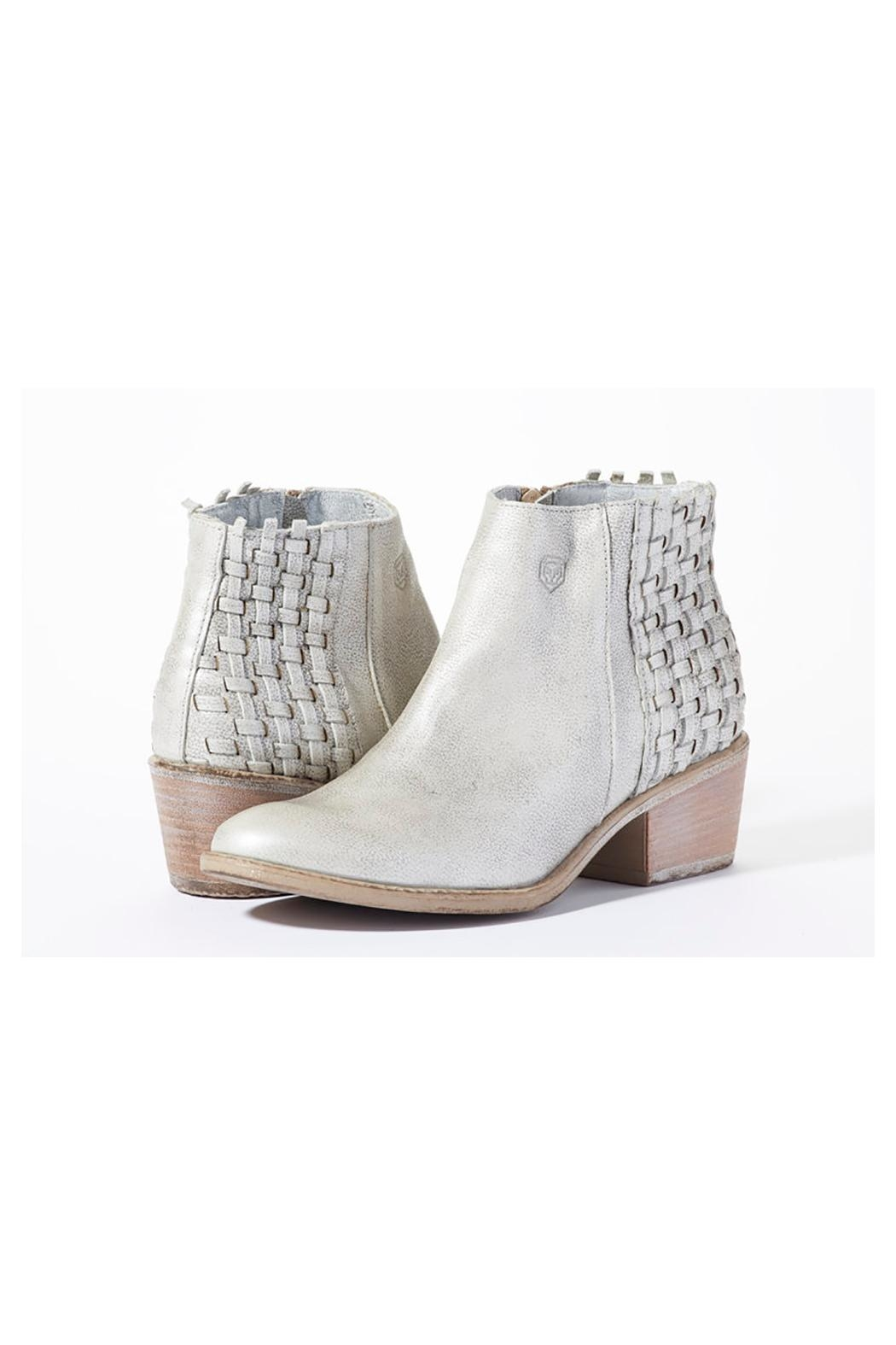 Rebel With Cause Silver Braided Bootie - Main Image