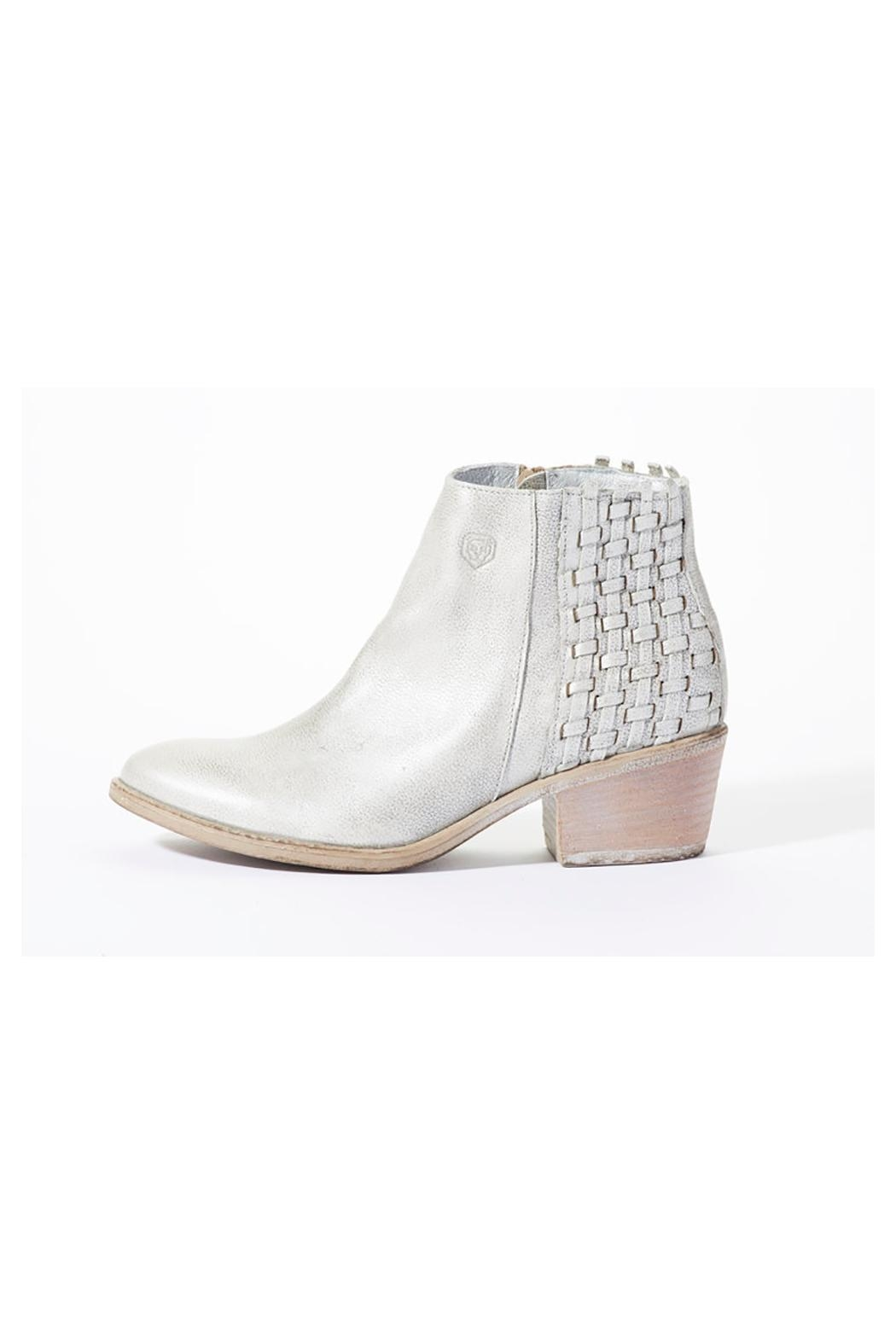 Rebel With Cause Silver Braided Bootie - Front Full Image