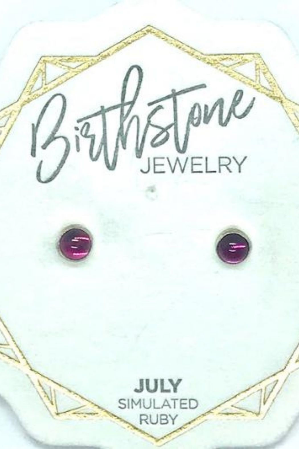 Lotus Jewelry Studio Silver Carded Birthstone Stud Earrings - Front Full Image