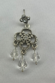 deannas Silver Chandelier Earrings with Gemstones - Product Mini Image