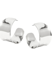 US Jewelry House Silver Chunky Hoops - Product Mini Image