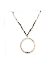 Meghan Browne Jewelry Silver-Circle Beaded Necklace - Product Mini Image
