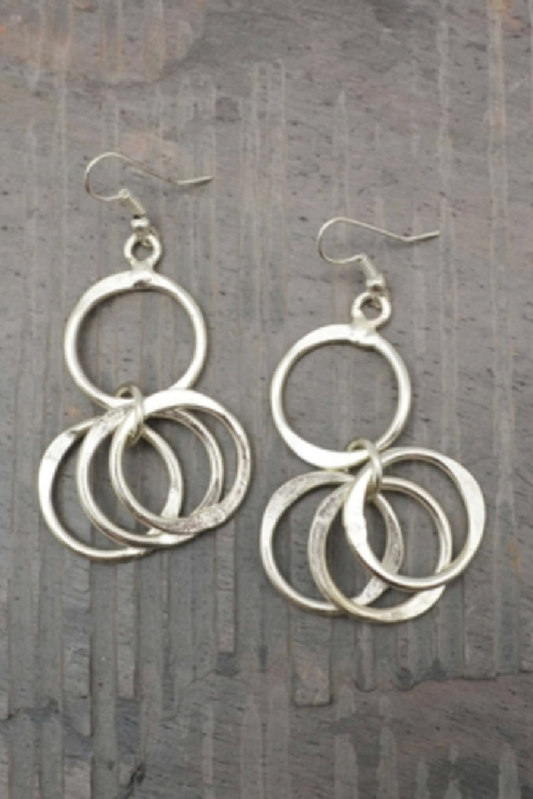 Anju Handcrafted Artisan Jewelry Silver Circle earring - Main Image