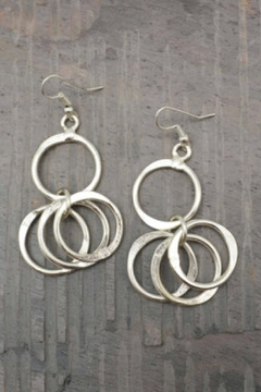 Anju Handcrafted Artisan Jewelry Silver Circle earring - Alternate List Image
