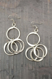 Anju Handcrafted Artisan Jewelry Silver Circle earring - Front cropped