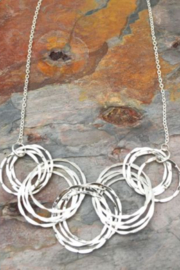 Anju SILVER CIRCLE NECKLACE - Product Mini Image
