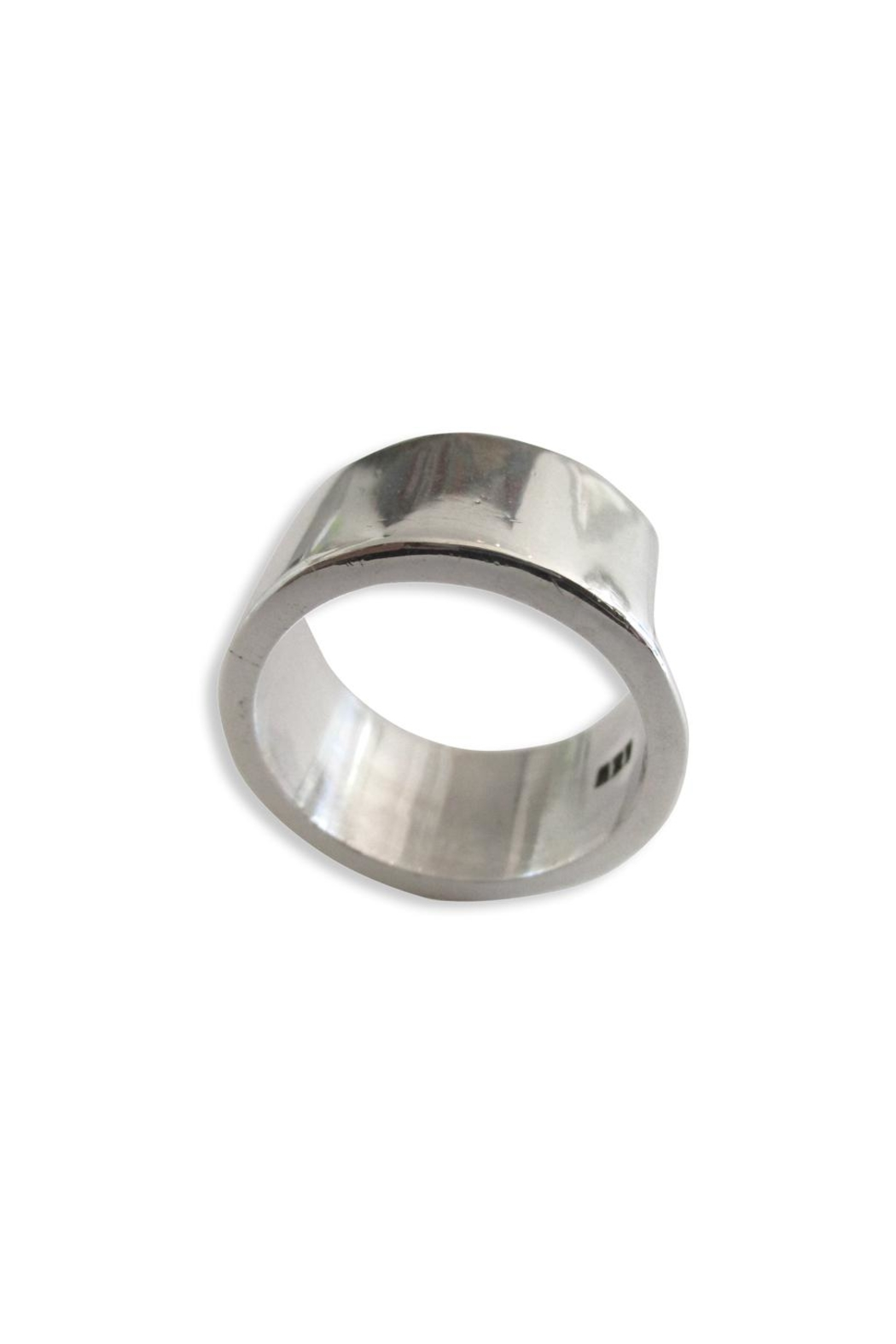 Malia Jewelry Silver Circular Band - Front Full Image