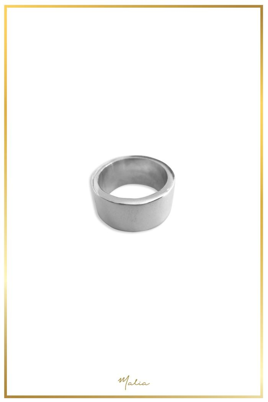 Malia Jewelry Silver Circular Band - Front Cropped Image