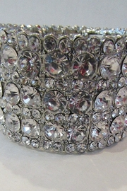 KIMBALS SILVER CLEAR RHINESTONE STRETCH BRACELET - Product Mini Image