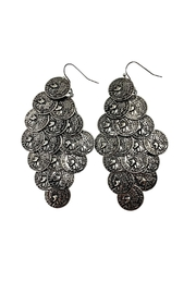 GHome2 Silver Coin Earrings - Product Mini Image