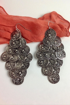 GHome2 Silver Coin Earrings - Alternate List Image