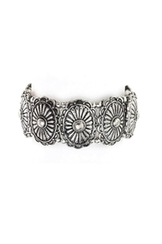 Wild Lilies Jewelry  Silver Concho Bracelet - Front cropped