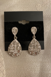tesoro  Silver Diamond Dangle Earrings - Product Mini Image