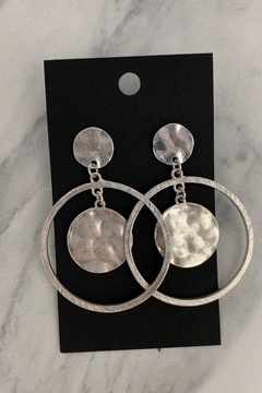 0-105 Silver Disc Earrings - Alternate List Image