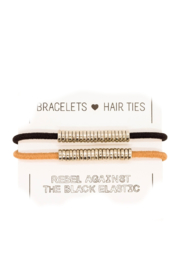 The Birds Nest SILVER DISC HAIR TIES/BRACELETS (SET 2) - Product Mini Image