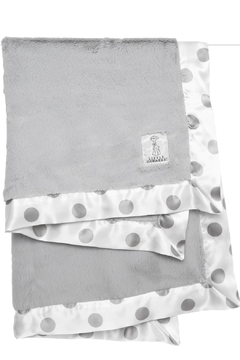 LITTLE GIRAFFE Silver Dot Blanket - Alternate List Image