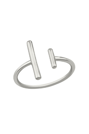 Something Silver Silver Double Bar Ring - Product Mini Image
