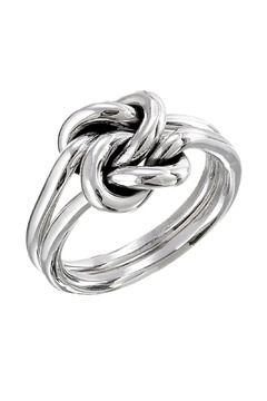 Salvador Jouhayerk Silver Double Knot Ring - Alternate List Image