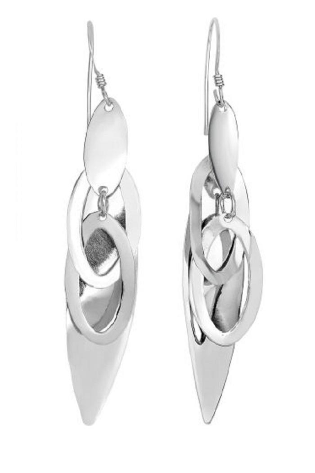 Bling It Around Again Silver Drop Earrings - Front Cropped Image