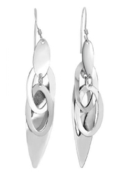 Bling It Around Again Silver Drop Earrings - Front cropped