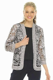 weavz Silver Embroidered Bolero Jacket - Product Mini Image
