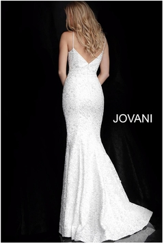 Jovani Silver Embroidered Gown - Alternate List Image