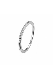 Something Silver Silver Eternity Ring - Front cropped