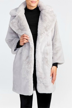 Coco + Carmen Silver Faux-Fur Midi - Alternate List Image