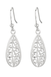 Bling It Around Again Silver Filigree Earrings - Product Mini Image