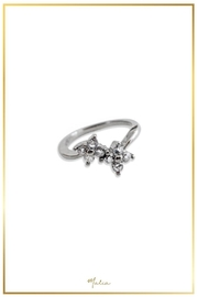 Malia Jewelry Silver Flower Ring - Product Mini Image
