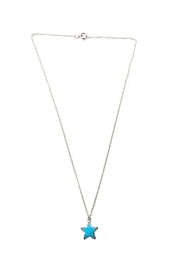Bara Boheme  Silver Gemstone-Star Necklace - Front cropped