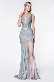 Cinderella Divine Silver Glitter Fit & Flare Long Formal Dress - Product Mini Image