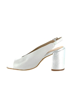 Shoptiques Product: Silver-Grey Block Heel