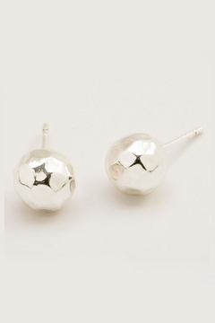 Shoptiques Product: Silver Hammered Studs