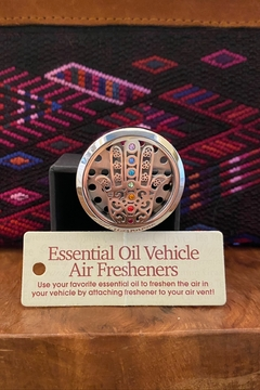 Benji Silver Hamsa Hand Essential Oil Vehicle Air Freshener - Product List Image