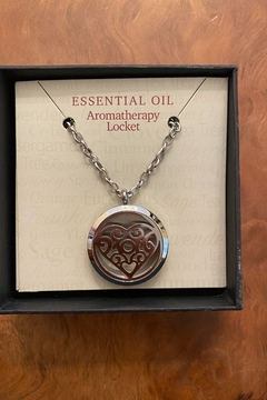 Benji Silver Heart Essential Oil Aromatherapy Locket Necklace - Product List Image