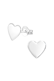 Silver Jewels Silver Heart Stud Earrings - Product Mini Image