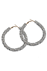 Petunias of Naples Silver Hoops - Product Mini Image
