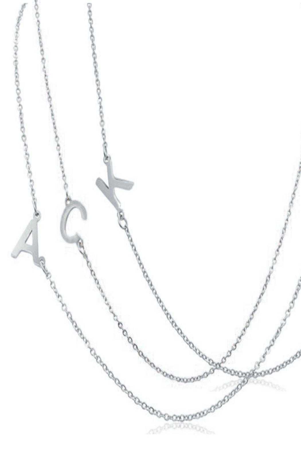 6th Borough Boutique Silver Initial Necklace - Back Cropped Image