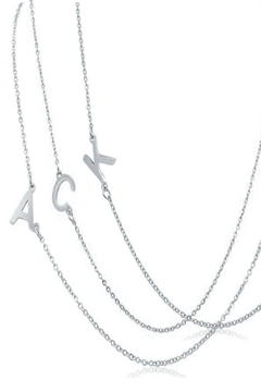 6th Borough Boutique Silver Initial Necklace - Alternate List Image