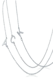 6th Borough Boutique Silver Initial Necklace - Back cropped