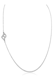 6th Borough Boutique Silver Initial Necklace - Front full body
