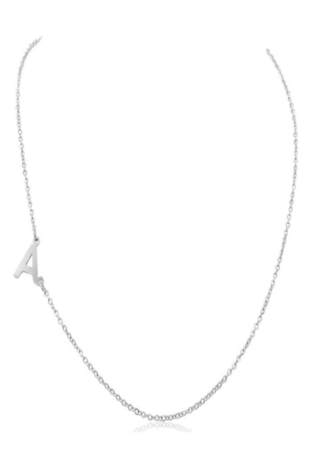 6th Borough Boutique Silver Initial Necklace - Main Image